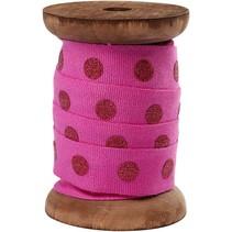 Baumwollband auf Holzspule, rot