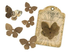 Embellishments / Verzierungen Butterflies of metal Graphic45,