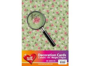 DESIGNER BLÖCKE  / DESIGNER PAPER Designerpapier, A4 Bogen, 210gr, wunderschönes Rosen Design