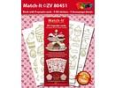 Sticker Bastelset mit 4 Stickerbogen und ein Matching Buch mit farbliche Motive.
