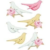 Tilda extra knoppen voor decoratie vogels, 40 x 15-45 x 20 mm, 6 stuks.