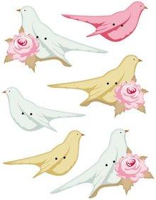Tilda Tilda extra buttons for decoration birds, 40 x 15 - 45 x 20mm, 6pcs.