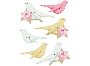 Tilda Tilda extra buttons for decoration birds, 40 x 15 - 45 x 20mm, 6pcs.