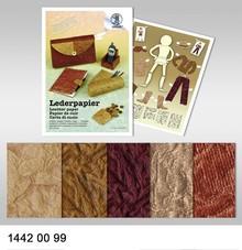 DESIGNER BLÖCKE  / DESIGNER PAPER LEATHER PAPER 250G, 23x33CM, 5Blatt.5F.SORTIERT