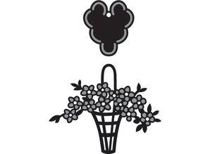 Marianne Design Craftables Flower basket - label, CR1209