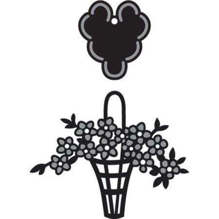 Marianne Design Craftables Blomsterkurv - label, CR1209
