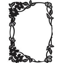 Marianne Design, Craftables Flower edge rectangle, CR1214.