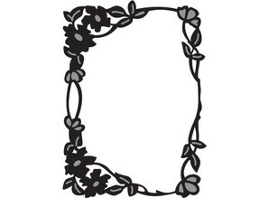 Marianne Design Marianne Design, Flower Craftables rectángulo de borde, CR1214.
