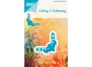 Joy!Crafts und JM Creation Joy crafts, stamping embossing stencil corner A metal template 4.8 x 4.8 cm.
