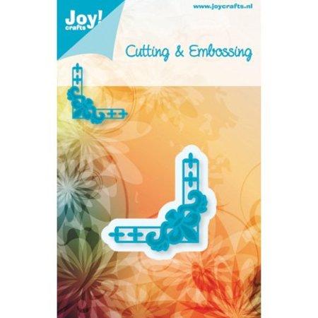 Joy!Crafts und JM Creation Joy crafts, Stanz-Prägeschablone Ecke A Metallschablone 4,8 x 4,8 cm.