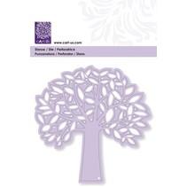 Punzonado y Pägeschablone: Árbol con las hojas