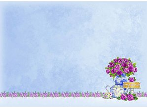 """Exlusiv Craft Kit de diseño de la tarjeta de Lujo """"For The Ladies"""" Collection, Hora para el té, (Limited)"""