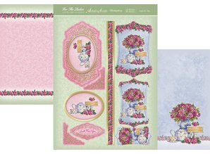 "Exlusiv Luxury Craft Kit card design ""For The Ladies"" Collection, Time for Tea, (Limited)"