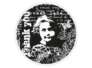 Marianne Design Rubber stamp, Romantic Vintage Thank you