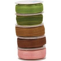 Organza Bänderset, anchos, colores 5 6mm