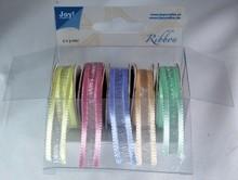 DEKOBAND / RIBBONS / RUBANS ... Organza Bänderset, 9mm wide, 5 colors