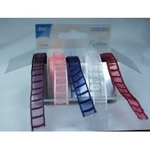 Organza-Bänderset , 9mm breit, 5 Farben