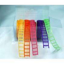 Organza Bänderset, 9 mm de ancho, 5 colores