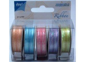 Joy!Crafts und JM Creation Organza Bänderset, 9mm wide, 5 colors