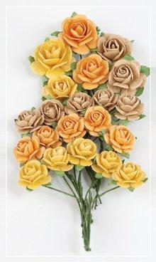 BLUMEN (MINI) UND ACCESOIRES Marianne Design Paper Roses Sunshine.