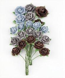 BLUMEN (MINI) UND ACCESOIRES Marianne Design Paper Roses Navy Blå.