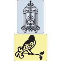 Embossingsfolder Set Bird e Bird Cage.