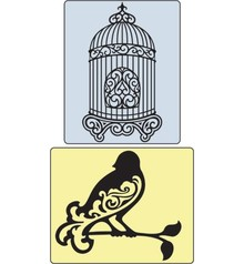 Sizzix Embossingsfolder Set Bird and Bird Cage.