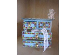 Objekten zum Dekorieren / objects for decorating Schubladenschränkchen, 17 x 16 x 9cm