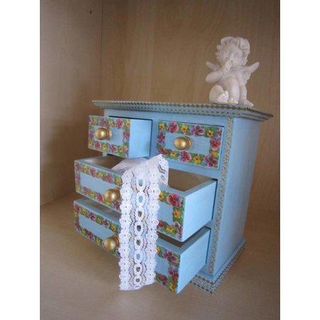 Objekten zum Dekorieren / objects for decorating Schubladenschraenkchen,17 x 16 x 9cm