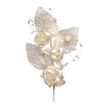 Blumenpick, elfenbein, 14cm, 1 Stück.