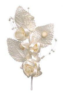 BLUMEN (MINI) UND ACCESOIRES Plukke blomster, elfenben, 14cm, 1 stk.