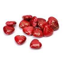Herzen, rot, 1,5cm, 24Stück in 1 Beutel, aus Kunststoff.