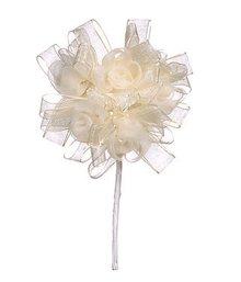 BLUMEN (MINI) UND ACCESOIRES Floral krave, elfenben, 3,5 cm - 10cm.