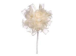 BLUMEN (MINI) UND ACCESOIRES Floral collar, ivory, 3.5cm - 10cm.