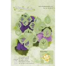 Cutting and embossing stencil flowers
