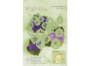 Leane Creatief - Lea'bilities Corte y estampado flores plantilla