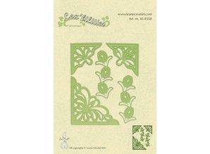 Leane Creatief - Lea'bilities Flower corner cutting and embossing template.