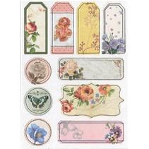 Spånplader Klistermærker, nostalgi blomster