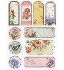 Scrapbooking ... Spånplader Klistermærker, nostalgi blomster