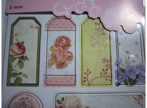 Scrapbooking ... Chipboard Stickers, nostalgia flowers