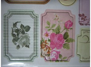 Scrapbooking ... Chipboard Stickers, nostalgia flowers.