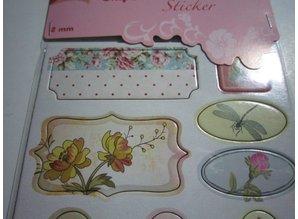 Scrapbooking ... Chipboard Stickers, nostalgia flowers.
