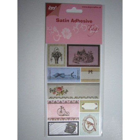 Joy!Crafts und JM Creation Satin Adhesive Tags, Vintage 4.