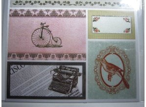 Joy!Crafts und JM Creation Satin Adhesive Tags, Vintage 4.