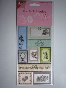 Joy!Crafts und JM Creation Satin Tag adesive, Vintage 1