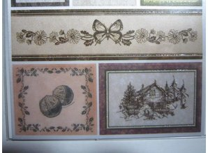 Joy!Crafts und JM Creation Satin Adhesive Tags, Vintage 1.