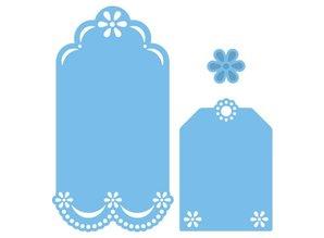 Marianne Design Troquelado y estampado en relieve plantilla: etiquetas decorativas