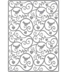 Joy!Crafts und JM Creation Line & Lene, Embossing stencil A6. background