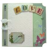 Joy!Crafts und JM Creation Line & Lene, goffratura stencil A6. sfondo