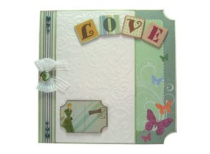 Joy!Crafts und JM Creation Line & Lene, Embossing stencil A6. background